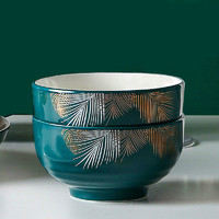 白嘉伊 色釉陶瓷碗 4.5英寸 2个装